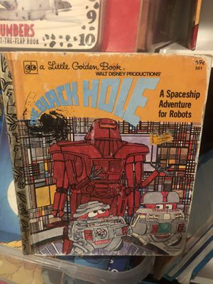 Photo Vintage Walt Disney Productions The Black Hole A Spaceship Adventure for Robots - A Little a golden Book ! Wow ! Rare find! 1979