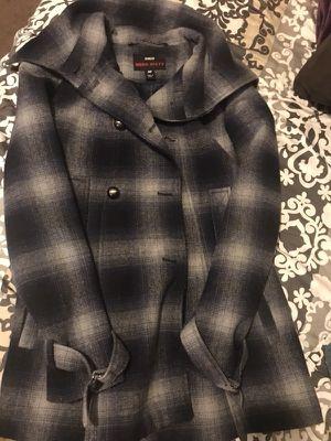Plaid coat Navy blue for Sale in Salt Lake City, UT