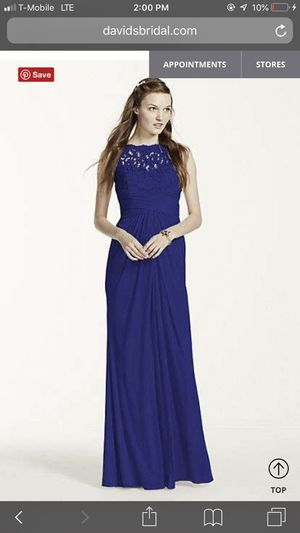 Navy long bridesmaid dress - David's Bridal size 8 for Sale in Houston, TX