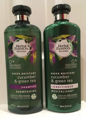 Herbal Essences Bio Renew sheer moisture cucumber & green tea shampoo and conditioner for Sale in Fort Hunt, VA