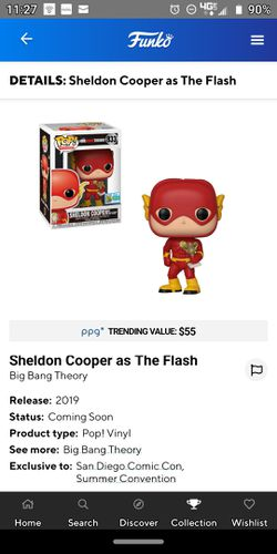 Funko pop! Sheldon Cooper as the Flash Thumbnail