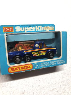 Vintage MatchBox K6 TEAM HONDA RACING TEAM MOTORCYCLE AND TRANSPORTER SUPERKINGS for Sale in O'Fallon, MO