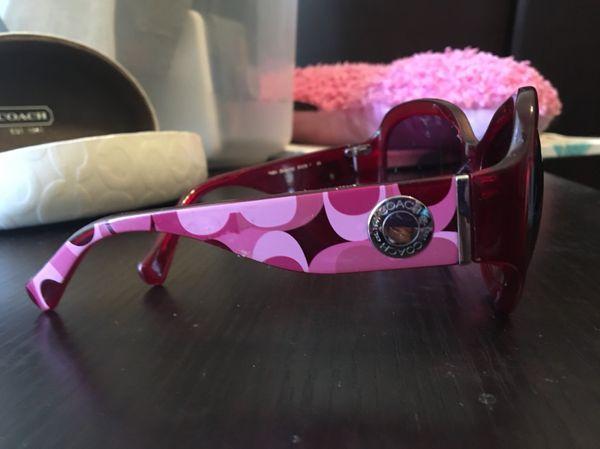 27e9578691212 New Coach sunglasses HC 8029 Arabella Burgundy 5029 8H Authentic w case for  Sale in Fort Worth