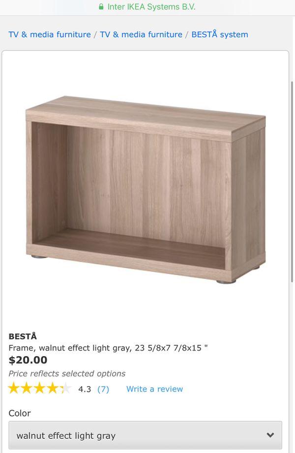 Brand new in box ikea BESTÅ Frame, walnut effect light gray, 23 5 ...