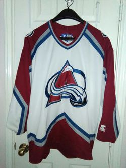 Vintage starter Colorado avalanche Jersey sz large good condition Thumbnail