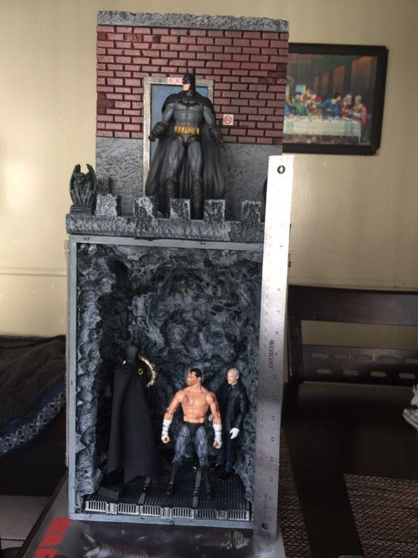 Custom made diorama for marvel legeds /dc custom batman alex ross!! for  Sale in Los Angeles, CA - OfferUp