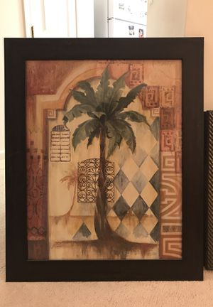 Brown Frame Paintings of Palm Tree Professional for Sale in Vienna, VA