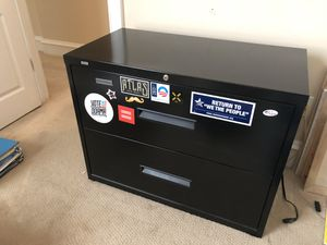 Horizontal Filing Cabinet (cool stickers included) for Sale in Washington, DC