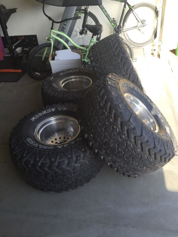 BMW Of Peoria >> 15x12 Wheels w/ 35x17.50-LT 15 Mickey Thompson Baja Belted Tires for Sale in Peoria, AZ - OfferUp