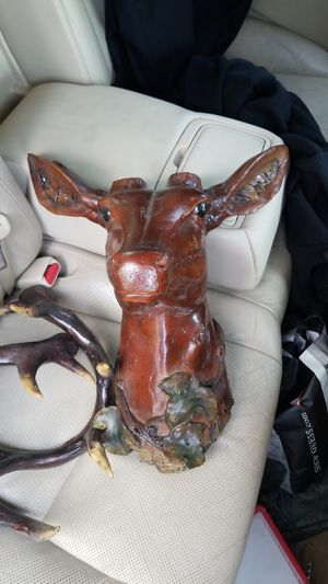 Wood dear head for Sale in Tampa, FL