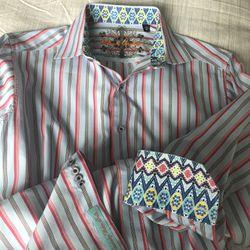ROBERT GRAHAM; DRESS; SHIRT BUTTON DOWN  SIZE S Thumbnail