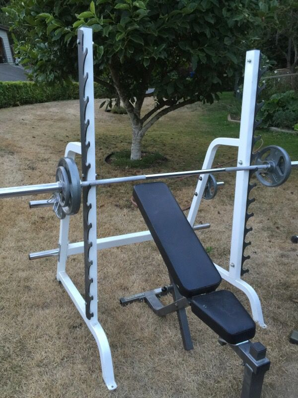 Parabody Heavy Duty Weight Bench And Squat Rack Weights And Bars For Sale In Mercer Island Wa