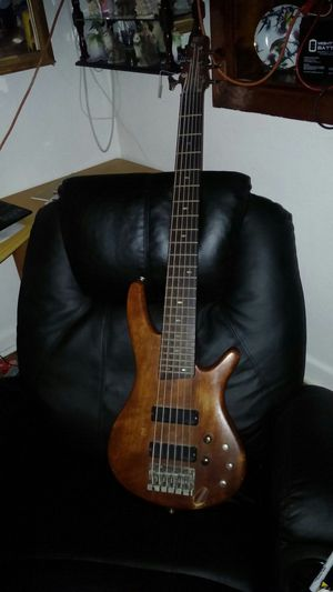 Sound gear ibanez 6 string bass guitar sell or trade for wide string acoustic electric guitar for Sale in Orlando, FL