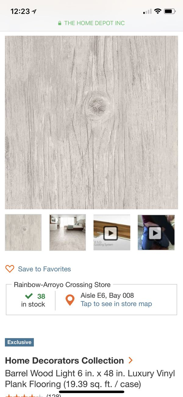 Home Decorators Collection Barrel Wood Light 6 In X 48 In Luxury Vinyl Plank Flooring 19 39 Sq Ft Case For Sale In Las Vegas Nv Offerup