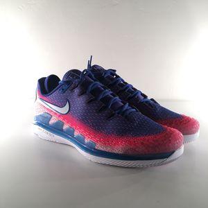 Photo Brand New SZ 11 Nike Air Zoom Vapor X Knit Tennis Shoes White Game Royal