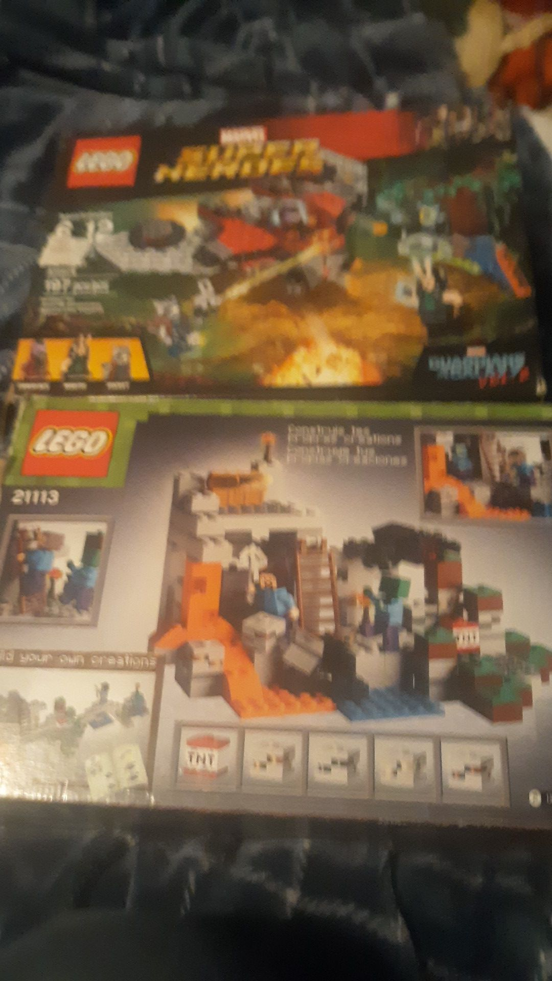 2 boxes of Lego toys open box both for $8
