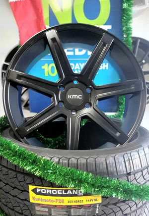 Photo Four (4) 22 Rims for Ford explorer, Tahoe, Yukon, Sierra, silverado, suburban (finance wheels only $39 down!)