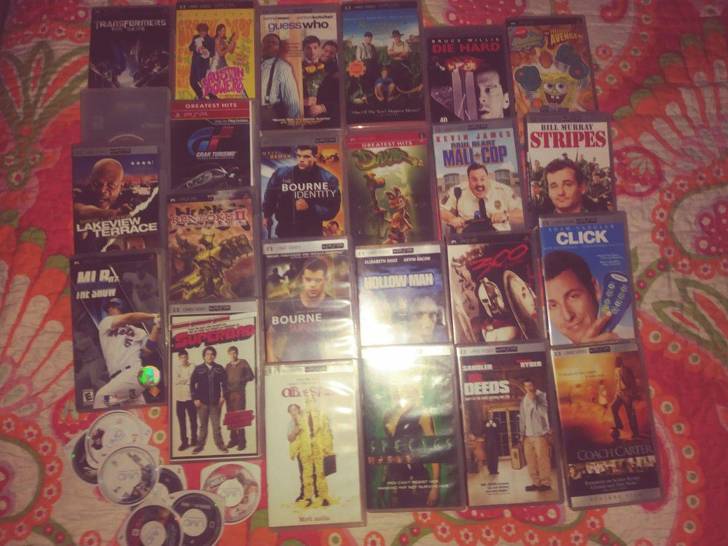 Psp movies an games