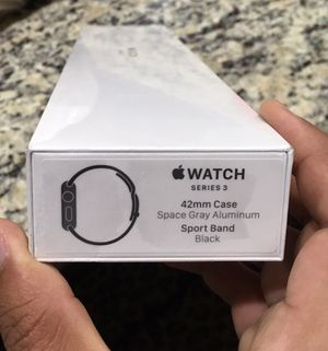 Apple watch series 3 GPS 42mm Space gray aluminum Case with Sport Band - Black for Sale in Morrisville, NC
