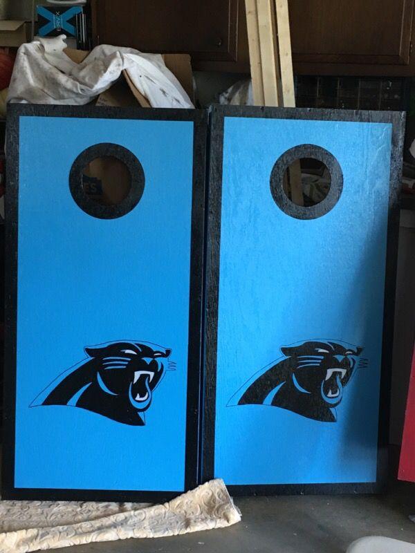 Carolina Panther Cornhole Boards For Sale In Mocksville Nc Offerup