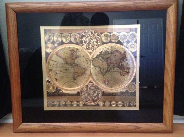 World Map By Peter Schenk The Elder.World Map By Peter Schenk The Elder 1645 1715 For Sale In Lancaster