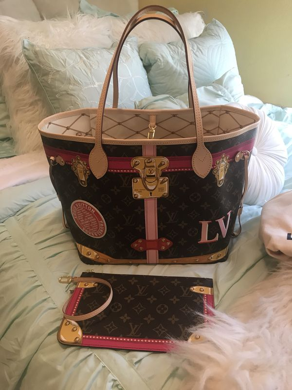 louis vuitton neverfull mm trunks summer 2018 limited edition for sale in fresno ca offerup. Black Bedroom Furniture Sets. Home Design Ideas