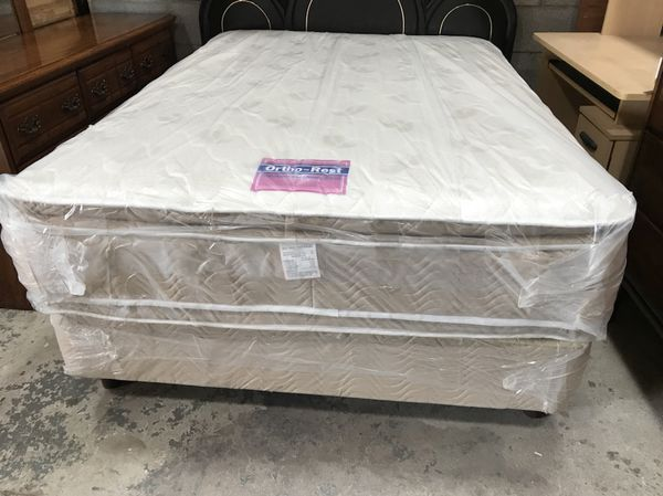 Brand New Full Size Double Pillow Top Mattress Set Ortho Rest For