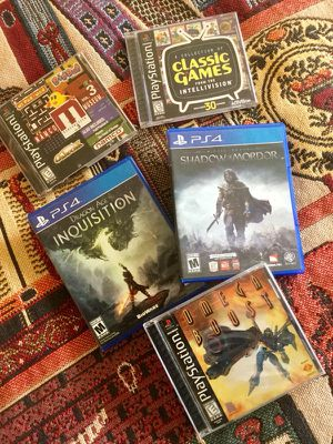 Selective games for Ps 1 and Ps 4 video Games 😎🎮📀 for Sale in Annandale, VA