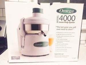 Omega 4000 Juicer/Pulp Ejector New in Box for Sale in Washington, DC