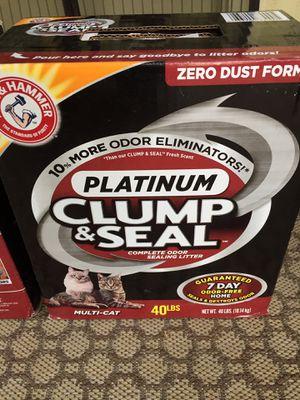 Photo ARM & HAMMER Clump and Seal Platinum Cat Litter, Multi-Cat, 40 lb