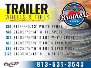 Trailer Tires & Wheels for Sale in Tampa, FL
