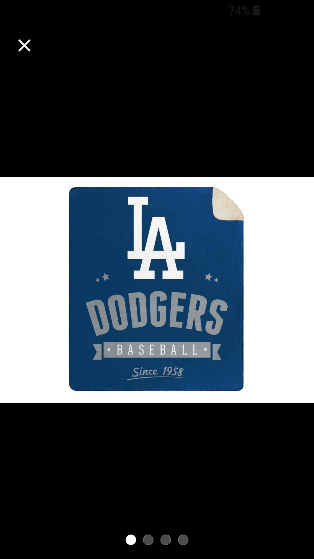 Dodgers Officially Licensed MLB Cloud Throw