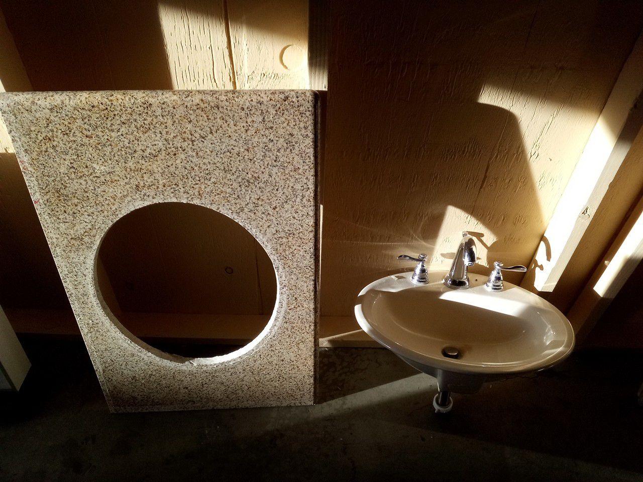 36 inch granite top and sink faucet