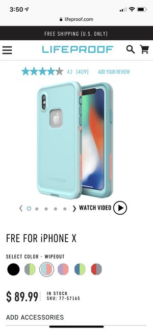 LifeProof Case for IPhone X/Xs for Sale in Abingdon, MD