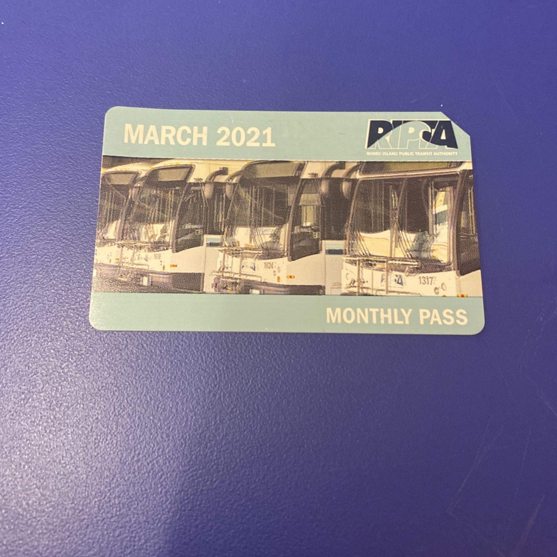 March 2021 Monthly Buss Pass