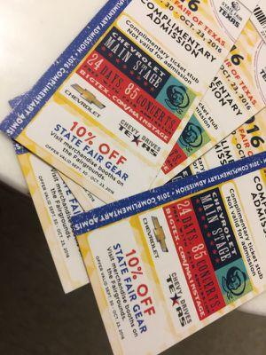 Fair Tickets $10 each for Sale in Dallas, TX