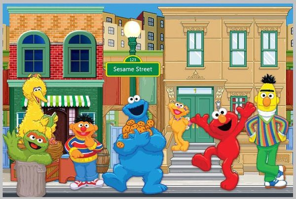 Sesame Street Custom Photo Backdrop 7Wx5H FT Baby Kids In South Gate CA
