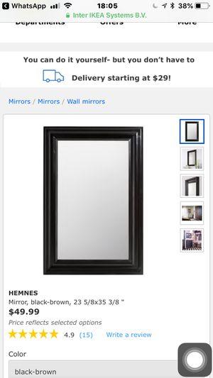 Ikea Mirror, black Brown for Sale in Gaithersburg, MD