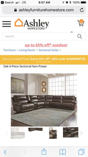 Italian leather sectional for Sale in Frederick, MD