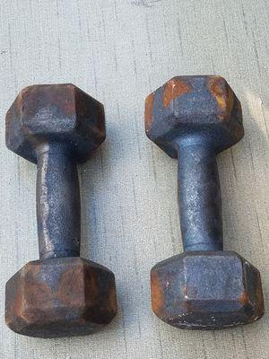 8lb Cast Iron Dumbbell Set for Sale in Wilder, KY