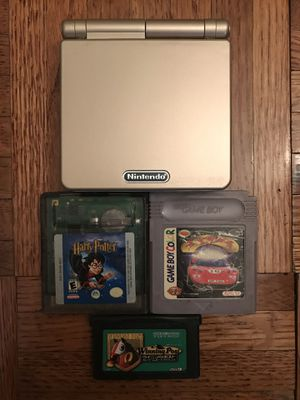 Gold Colorway Gameboy SP AGS 001 with 3 Games for Sale in New York, NY