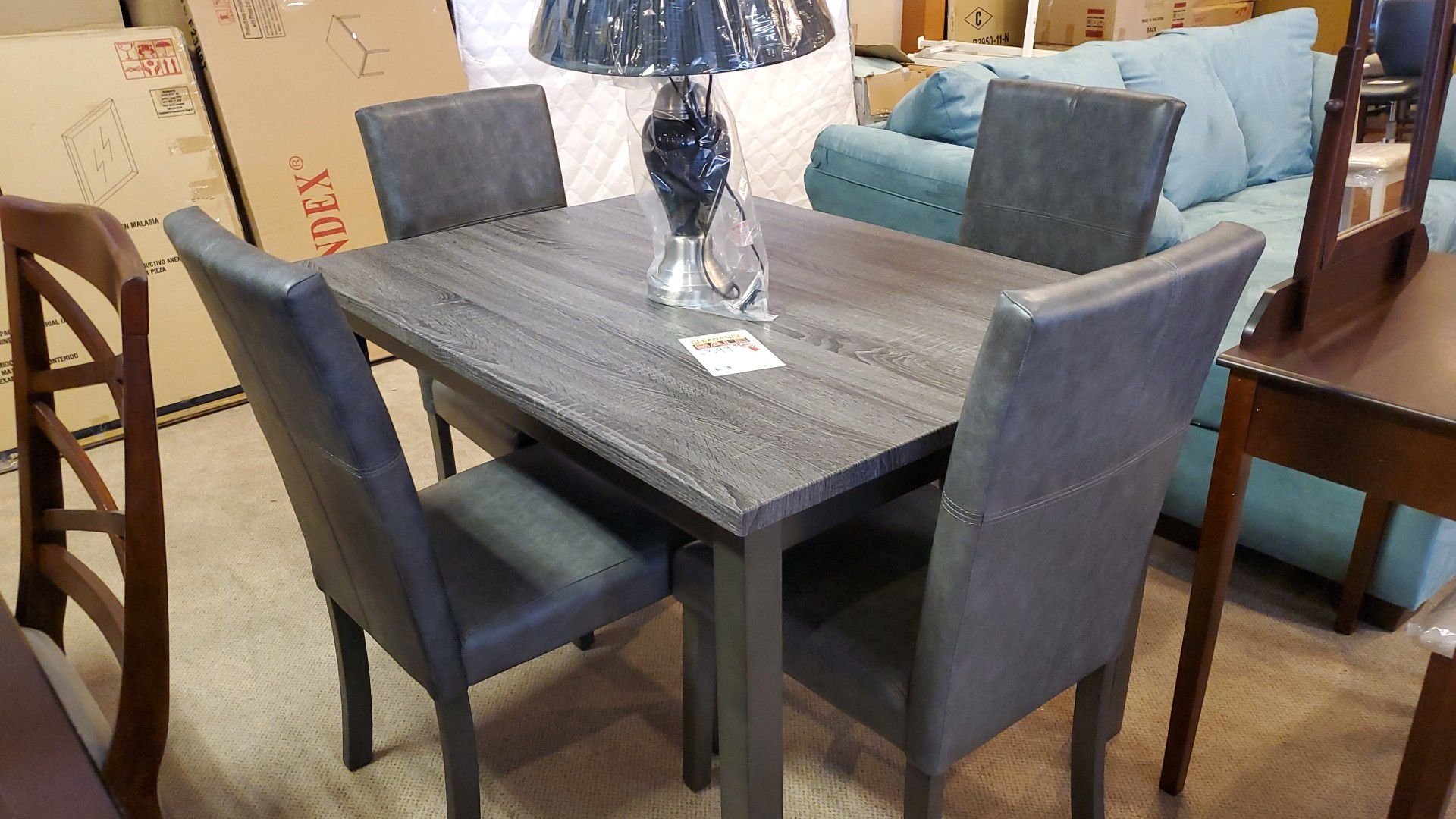 Grey 5pc dining room set
