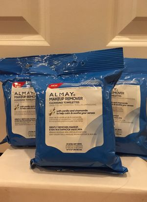 Set of 3 packages Almay facial cleansing towelettes for Sale in Alexandria, VA