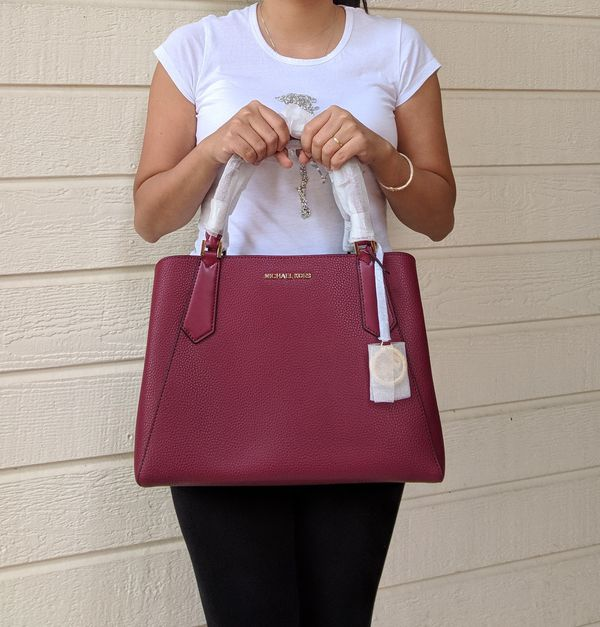 3b21ad5dcb28 Michael Kors Kimberly Large East West Satchel Bag Mulberry Leather for Sale  in Arlington, TX - OfferUp