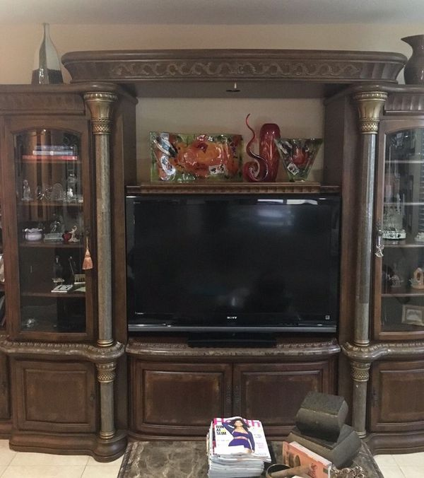 Aico Michael Amini Torino Entertainment Center With Console For Sale In Miami Fl Offerup