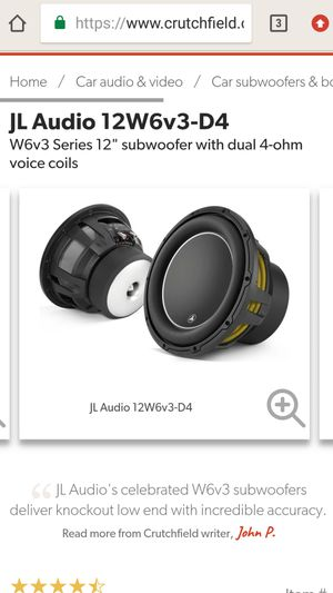 Photo 1 12 jl audio w6v3 with super bass probox box