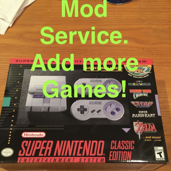 SNES NES Classic Mod Service 300+ Games for Sale in Philadelphia, PA -  OfferUp