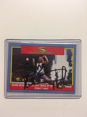 Shawn Michaels Autographed Card with COA for Sale in Lake Park, GA