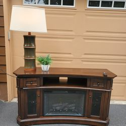 2 Beautiful Solid Wood Large Fireplace For Sale . Only $390 Each. Works Perfectly  Thumbnail