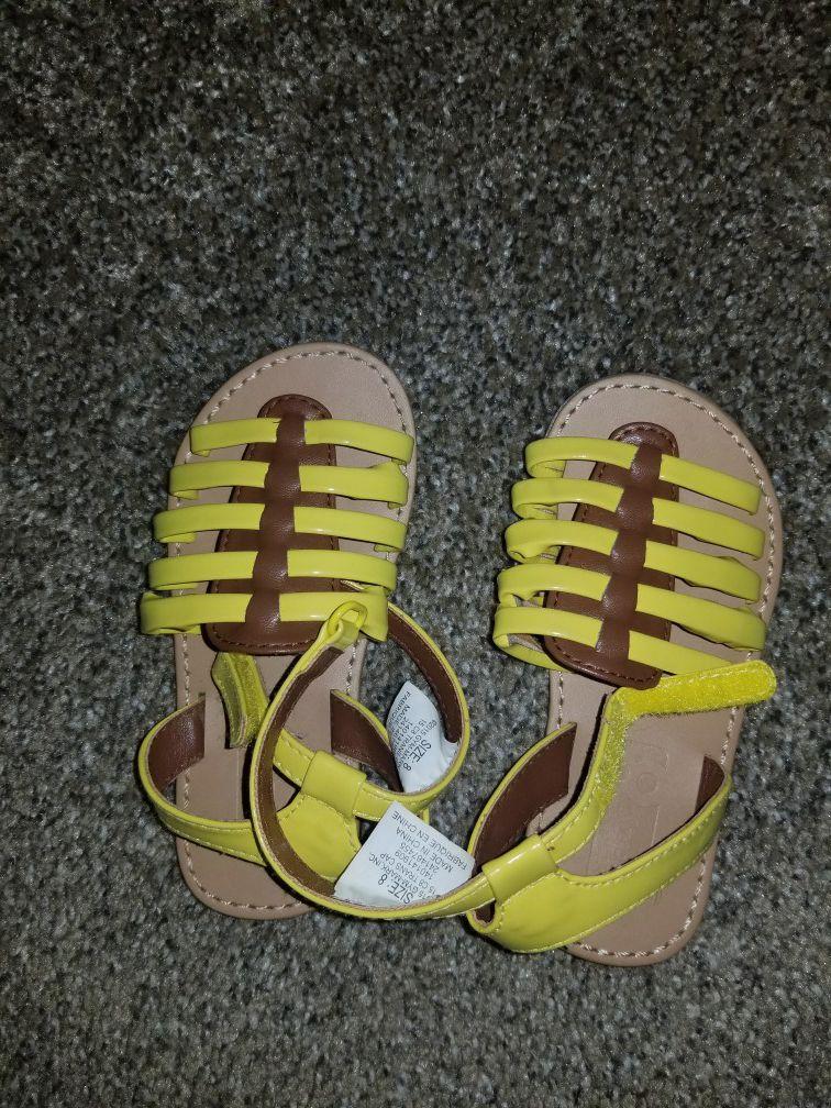 Girls sandals size 8